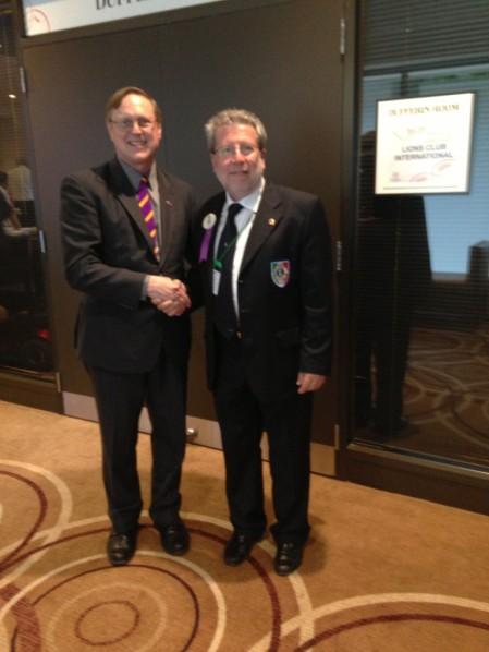Il nostro Governatore SALVO INGRASSIA con il Presidente Internazionale Joseph PRESTON